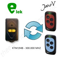 ELEK Gate Remote 300.000MHZ, Replaced by Jane V Multi-frequency Remote.