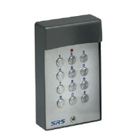 a stand alone hard wired keypad c/w stainless steel cover. illuminated
