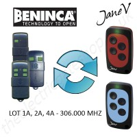 BENINCA Gate Remote 306.000MHZ, Replaced by Jane V Multi-frequency Remote.
