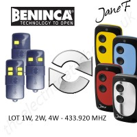 BENINCA Gate Remote 433.920MHZ, Replaced by Jane F Remote.