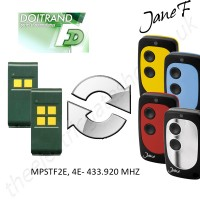 doitrand gate remote 433.920mhz, replaced by jane f remote.