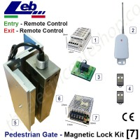 pedestrian security gate magnetic lock kit.  entry via remote exit via remote