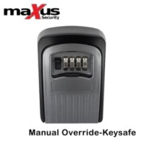 the maxus - key safe mx401 is wall mounted, and gives you a convenient place to put your electric gate override keys in case of power cuts..