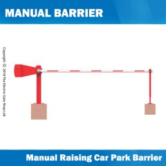 manual raise arm car park barrier 5m