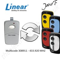 linear gate remote 433.920mhz, replaced by jane f remote.