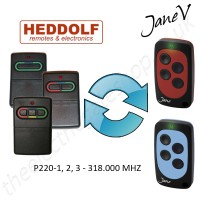 HEDDOLF Gate Remote 318.000MHZ, Replaced by Jane V Multi-frequency Remote.