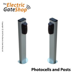photocell mounting posts.suitable for mounting inside photocells in the drive verge. bolt down flange or concreted in direct. (does not include the photocells)
