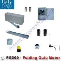 the pg300 from italy, 24v single folding gate motor is an ideal solution for automated folding gates. allowing big gates to be put into small spaces.