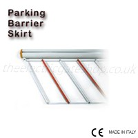 painted aluminium skirt for parking barrier