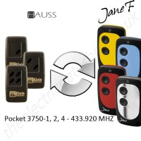 hauss gate remote 433.920mhz, replaced by jane f remote.