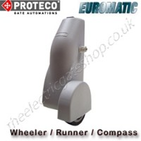 proteco / euromatic compass, also known as runner, wheeler, roller. these proteco euromatic uk gate motors are perfect substitutes for underground or hydraulic gate operators.