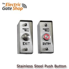 stainless steel ip rated exit or entry button.narrow style .  illuminated optional.