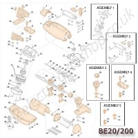 roger be20/200 spare motor parts