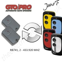 gto gate remote 433.920mhz, replaced by jane f remote.