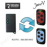 TELCOMA Gate Remote 310.000MHZ, Replaced by Jane V Multi-frequency Remote.
