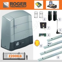 roger technology indus commercial / industrial sliding gate operator single phase for gates up to 2200kg.