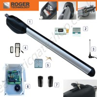 roger titan r500/r502 gate kit, for gate a wing 3.5m - 5m.  features steel gears and electric limit switch.