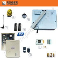 Roger R21 Underground Gate Automation Kit Made by Roger Technology for Reliability and Strength in New and Existing Installed Single Gates.