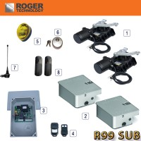 roger r99 sub underground gate automation kit made by roger technology for working in wet conditions.