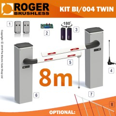 roger technology bionik bi/004 brushless automatic barrier series 4m (twin)