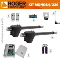 roger technology monos4/220p 230v electric gate kit - double