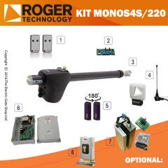 roger technology monos4/220s 230v electric gate kit - single