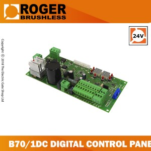 roger technology nrushless b70/1dc control board for sliding gates, 24v control board with digital encoder