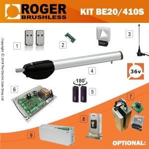roger technology be20/400 24v long arm single kit