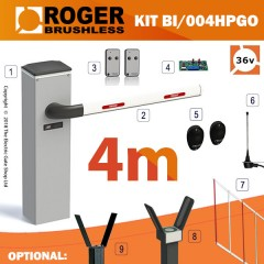 roger technology bionik bi/004 36v brushless automatic barrier kit