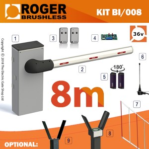 roger brushless bionik barrier series 8m