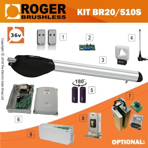 roger technology titan br20/500 brushless 36v single kit