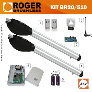 roger technology titan br20/500 brushless 36v twin kit