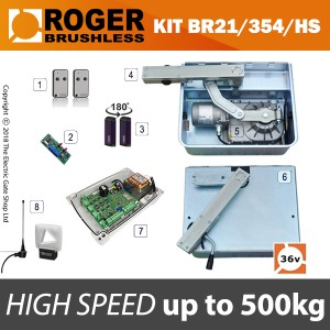 roger brushless - br21/354/hs 36v high speed twin kit