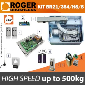 roger brushless - br21/354/hs 36v high speed single kit