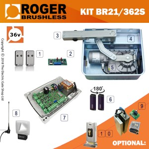 roger technology brushless 36v br21/362 fgs kit