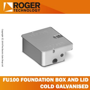 roger technology fu100 cold galvanised foundation box and lid