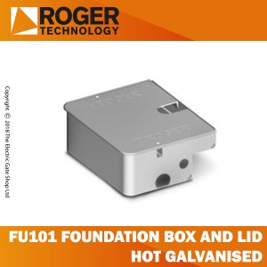 roger technology fu101 hot galvanised foundation box and lid
