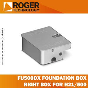 roger technology fu500dx right foundation box and lid for h21/500