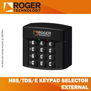 roger technology h85/tds/e keypad selector with 12 digit numbers, 4 channel, external
