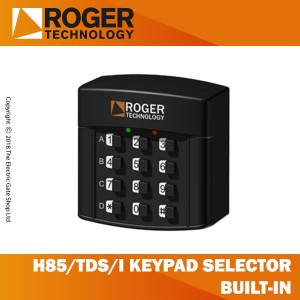 roger technology h85/tds/i keypad selector with 12 digit numbers, built-in.