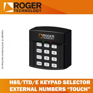 roger technology h85/ttd/e keypad selector with 12 digit