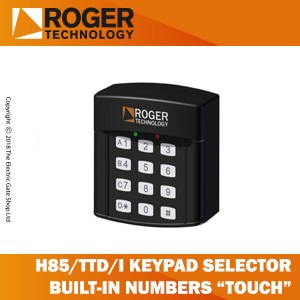roger technology h85/ttd/i keypad selector with 12 digit