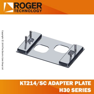 roger technology kt214/sc adapter plate with stay bolts and screws. h30 series