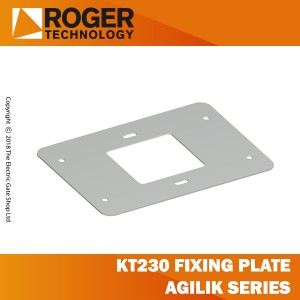 roger technology kt230 fixing plate with stay bolts and screws for agilik series