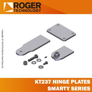 roger technology kit 3 kt237 hinge plates (short) smarty5-smarty5/r series