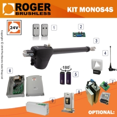 roger technology monos 24v brushless electric gate kit - single
