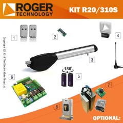 roger technology r20/310s 230v aboveground electric gate kit - single