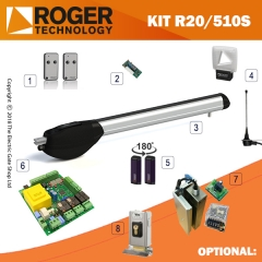 roger technology r20/510s 230v aboveground electric gate kit - single