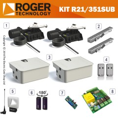 roger ram be20/210 brushless twin gate kit.  for gates up to 2.2m per wing, 24v, super intensive use, with digital encoder.