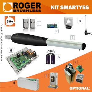 roger technology brushless smarty 5 single gate kit